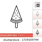 watermelon ice lolly  icecream... | Shutterstock .eps vector #1729359799