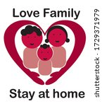 stay at home. campaign to... | Shutterstock .eps vector #1729371979