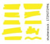 highlight marker. highlight...   Shutterstock .eps vector #1729372996