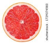 Grapefruit Slice Isolated. Pin...