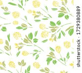 vector botany hand drawn clover ... | Shutterstock .eps vector #1729380889