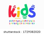 kids style colorful font design ... | Shutterstock .eps vector #1729382020