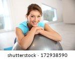 woman doing pilates and balance ...   Shutterstock . vector #172938590