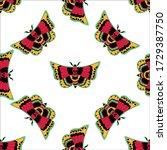seamless pattern  butterfly... | Shutterstock .eps vector #1729387750