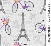 Seamless Pattern With Eiffel...