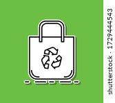 eco bag sticker icon. simple...