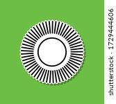the sun sticker icon. simple...