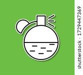 spirits sticker icon. simple...