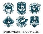 retro space badges set.... | Shutterstock .eps vector #1729447603