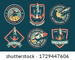 space vintage badges  emblems... | Shutterstock .eps vector #1729447606