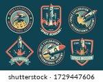 space vintage badges  emblems... | Shutterstock .eps vector #1729447606