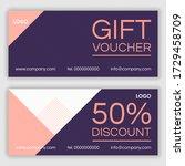 discount voucher design. vector ...   Shutterstock .eps vector #1729458709