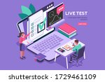 student learning for diploma at ... | Shutterstock .eps vector #1729461109
