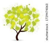 green grunge splotch tree... | Shutterstock . vector #1729474063