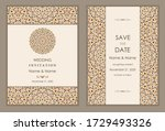 wedding invitation and save the ... | Shutterstock .eps vector #1729493326