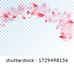 japanese cherry petals on... | Shutterstock .eps vector #1729498156