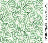 seamless watercolor pattern... | Shutterstock . vector #1729498693