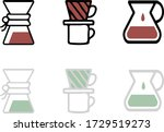 icons for coffee menu or app.... | Shutterstock .eps vector #1729519273