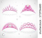 Shining Pink  Tiaras With...