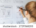 ui ux designer drawing new...