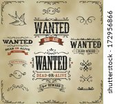 wanted vintage western banners | Shutterstock .eps vector #172956866