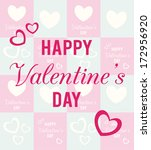 love design over blue and pink  ...   Shutterstock .eps vector #172956920