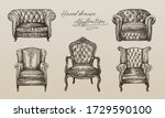 hand drawn sketch of collection ... | Shutterstock .eps vector #1729590100