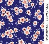 hand drawn artistic naive daisy ...   Shutterstock .eps vector #1729597339