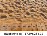 Beach Wooden Path On A Sandy...
