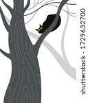 vector illustration. black cat... | Shutterstock .eps vector #1729632700