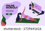 online worout  trainig. fitness ...