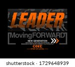 leader stylish typography... | Shutterstock .eps vector #1729648939