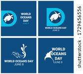 world ocean day campaign. world ... | Shutterstock .eps vector #1729656556