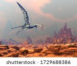 Quetzalcoatlus Flying Upon A...
