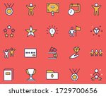 set of success related vector... | Shutterstock .eps vector #1729700656