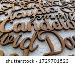Names And Letters Made Of Wood...