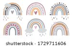 Set Of Rainbows With Hearts ...