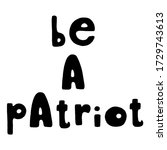 be a patriot. united states... | Shutterstock .eps vector #1729743613