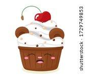 Cute Teddy Bear Cake. Vector...