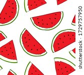 watermelon illustration...   Shutterstock .eps vector #1729757950