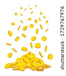 Mountain Of Gold Coins Fall ...