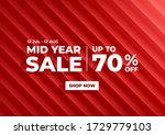 mid year sale  summer sale... | Shutterstock .eps vector #1729779103