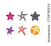 Star Fish Logo Vector Flat...