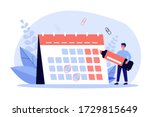 young man with marker checking... | Shutterstock .eps vector #1729815649