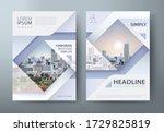 annual report brochure flyer... | Shutterstock .eps vector #1729825819