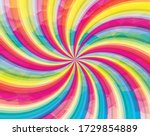 vector rainbow stripes. sun... | Shutterstock .eps vector #1729854889