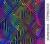 neon grunge triangle seamless... | Shutterstock .eps vector #1729861513