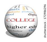 college 3d sphere word cloud... | Shutterstock . vector #172986296