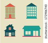 city design over beige...   Shutterstock .eps vector #172986740