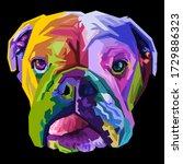 Colorful English Bulldog On Pop ...
